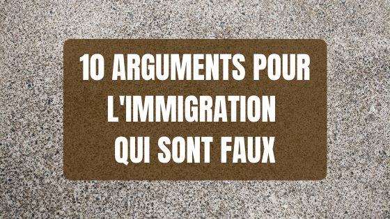 Arguments pour l'immigration